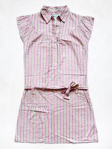 96cb15b61004 NEW WITHOUT TAG DELIAS Striped Metallic/Lurex Tie Waist Shirt Dress ...