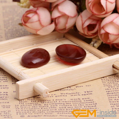 Natural Gemstone Carnelian CAB Cabochon Loose Beads For Jewelry Making 5 Pcs YB