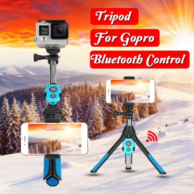 Camera Bluetooth Selfie Stick Tripod Monopod Remote Phone Clip Holder For GoPro