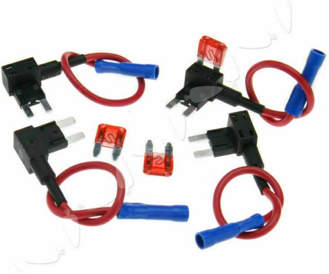 4 tlg KFZ PKW Stromdieb Steck Sicherung Autosicherungen Verteiler Stromabgreifer
