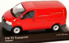 VW T5 KASTEN TRANSPORTER BULLI 2003 TORNADOROT MINICHAMPS 400052260 1/43 TOLE