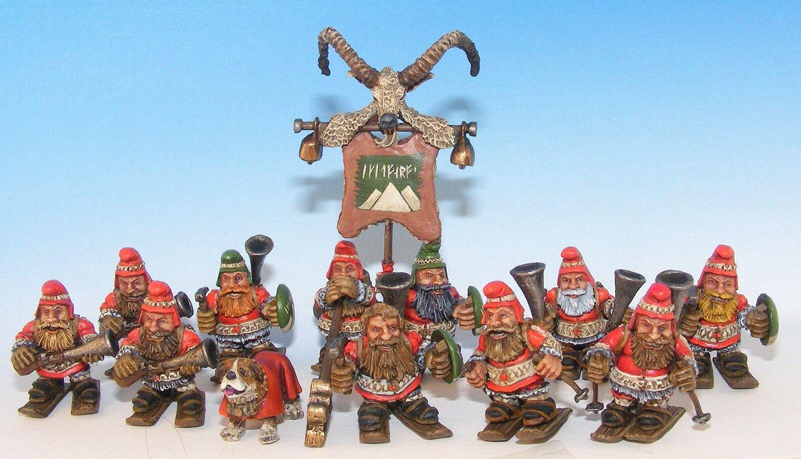 Dwarfs On Skis warhammer metal dwarf mountaineers oldhammer Warhammer Aofs