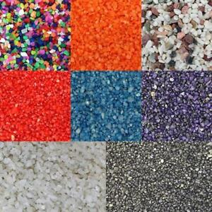 Finest-Filters Aquarium Fish Tank Sand Substrate Black White Natural and Coloured 40kg, Red