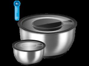EMSA ACCENTA Schaltschale Salatschüssel Servierschüsseln Set 5tlg. + Kühlakku
