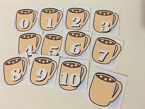 Hot-Cocoa-0-10-Number-Cards-Laminated-Card-Set-Pre-school-Kindergarten