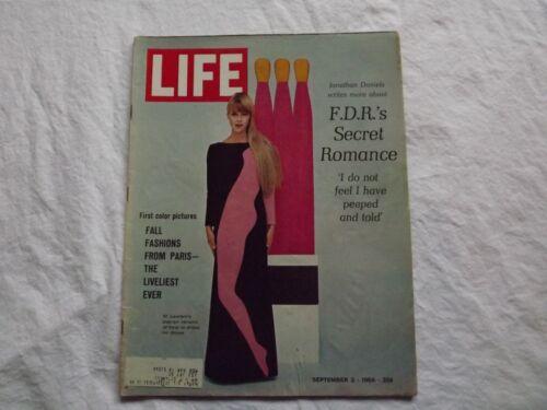 Details about  /LIFE Magazine September 2 1966~F.D.R./'s Secret Romance~Paris Styles ~  60/'s Ads