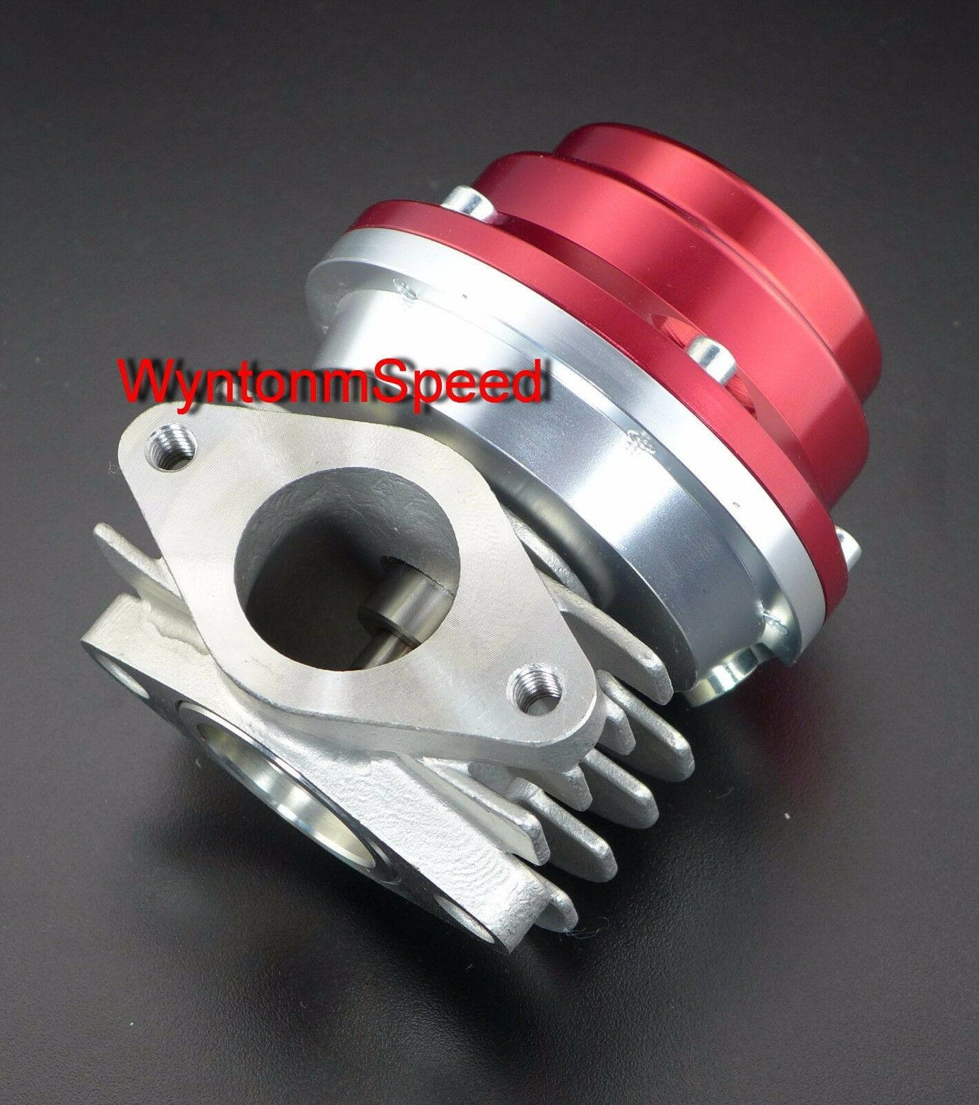 38MM Wastegate 17 PSI Turbo Stainless Steel Heat Sink Exhaust WG Dump Valve Red