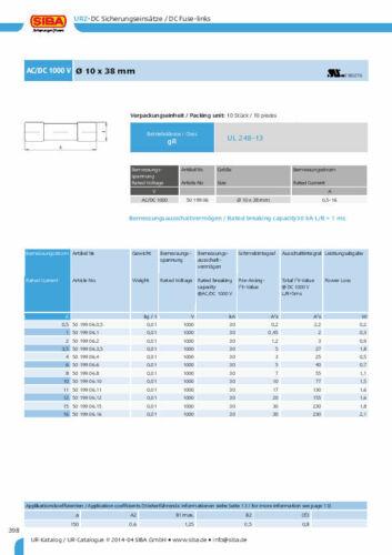 1Pcs 10mm x38mm F10A 10A 1000V SIBA Ceramic 5019906 DMI Fuse JPSF072