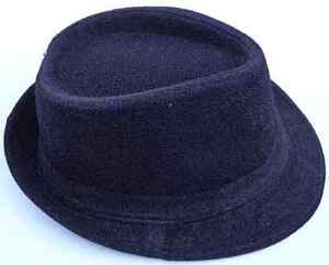 BLACK GLITTERY FABRIC FEDORA HAT~*~FASHION BOY DRESS UP