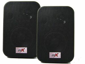 DSX-Sorround-Efecto-Altavoz-2-vias-Monitor-Cajas-Rear-2-Pieza-Estanteria-Pared