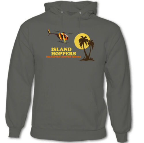 Island Hoppers Mens Retro Magnum PI Hoodie 80/'s TV Show Helicopter Tom Selleck