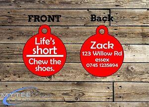 Courte mâcher le chaussures personnalisés Pet Charm ID de la balise Funny Pet Tags chien ID d'une vie-afficher le titre d`origine ap5m55Xw-07220326-240313303