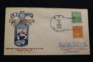 Marine-Abdeckung-1938-Schiff-Stempel-Launching-Uss-Mustin-DD-413-6188