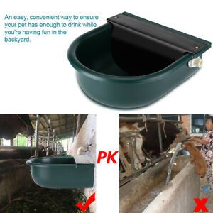 Plastic and Copper 4L Automatic Float Valve Livestock Drinking Bowl Horse Cattle Drinker for Cat Sheep Dog Horse Farm Supplies GOTOTOP Water Trough