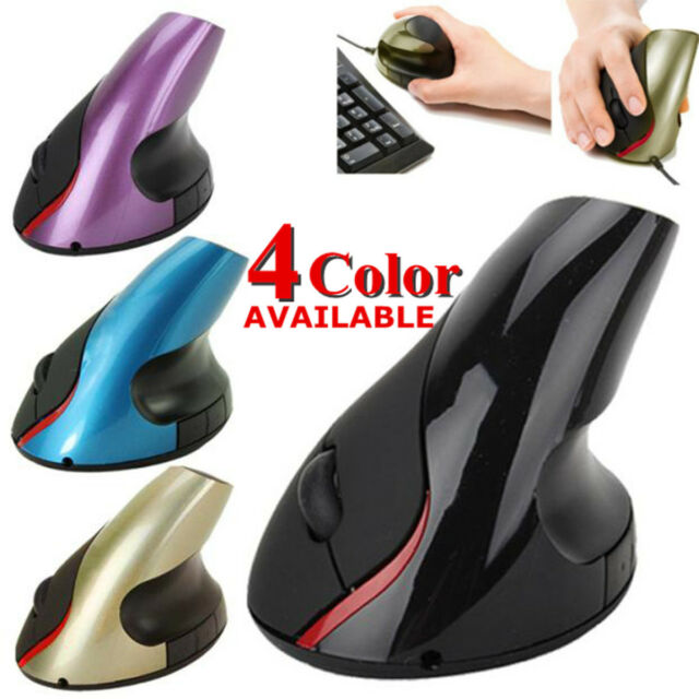 Ergonomic Vertical Mouse Wrist Healing 1200DPI Compact Optical USB For PC Laptop