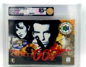 Goldeneye-007-Nintendo-64-N64-WATA-VGA-Graded-Gold-85-H-Seam-Seal-Brand-New