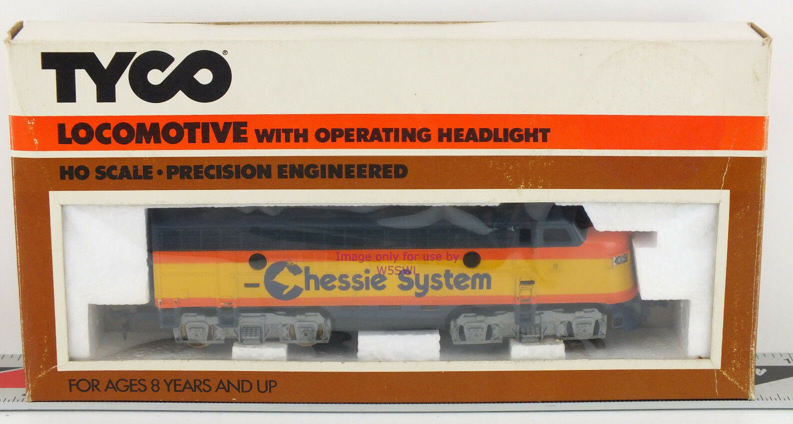 TYCO HO Chessie F-9 Locomotive 224-03 Unused Collectible in Box