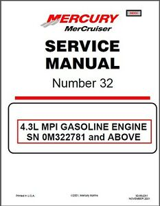 01 16 mercruiser 32 sterndrive 4 3l 262 mpi marine engines rh ebay com Mercruiser 4.3L Parts 1994 Mercruiser 4.3L LX