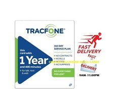 TRACFONE $99.99 Refill 1 Year 400 Minutes. Prepaid Card Reloaded Direct to Phone