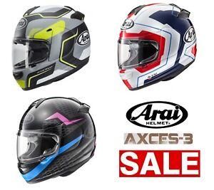 Motorcycle Helmets For Sale >> Details About Arai Axces 3 Motorcycle Helmets 2019 Sale Ltd Stock Free Delivery