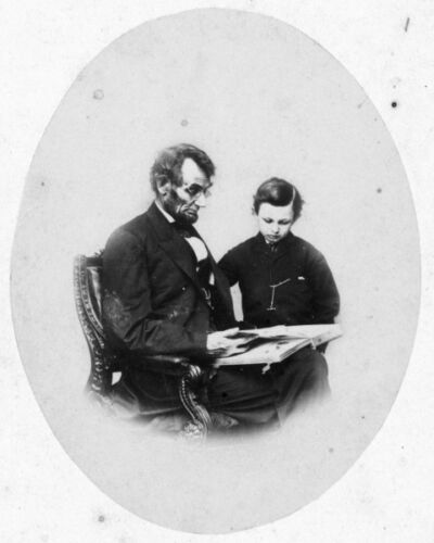 "President Abraham Lincoln with his son Thomas or /""Tad/"" 1864 New 11x14 Photo"
