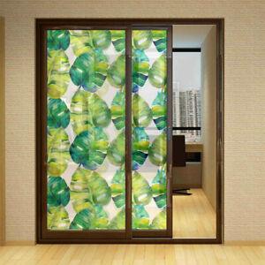 Coloré Floral Pastoral Film Fenêtre Intimité Autocollant PVC Givré Décor Maison