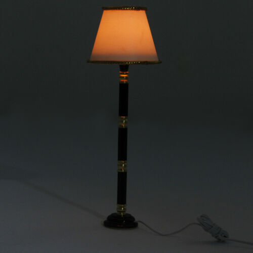 Shade Fringed Floor Lamp Light for 1:12 Dollhouse Miniature Furniture Accs