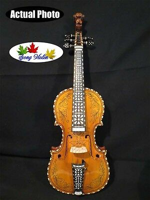 Beautiful drawing,inlaid carving SONG Brand maestro 5 strings 4/4 violin