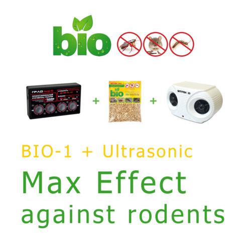 Rodent Ultrasonic Repeller Grad Ultra 3D with Free Biologic Repeller Bio-1 Gift