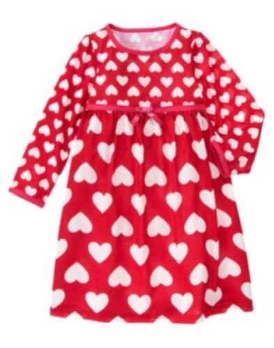 GYMBOREE VALENTINES DAY HEART PRINT NIGHTGOWN 2T 3 4 5 6 7 8 NWT-OT