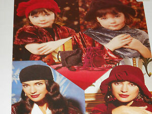 Ladies-and-Child-039-s-Hats-and-Bags-age-4-to-woman-size-knitting-pattern