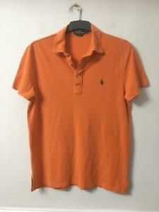 Polo-by-Ralph-Lauren-Orange-T-shirt-Taille-M-Homme-a-manches-courtes-D667