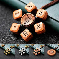 Vintage 3d Copper Metal Dice Gyro Edc Fidget Hand Finger Spinner Fingertips Toy
