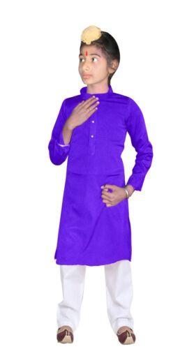 Indian Purple Color Kid/'s Kurta Pajama Wedding Party Wear Casual Tunic Shirt