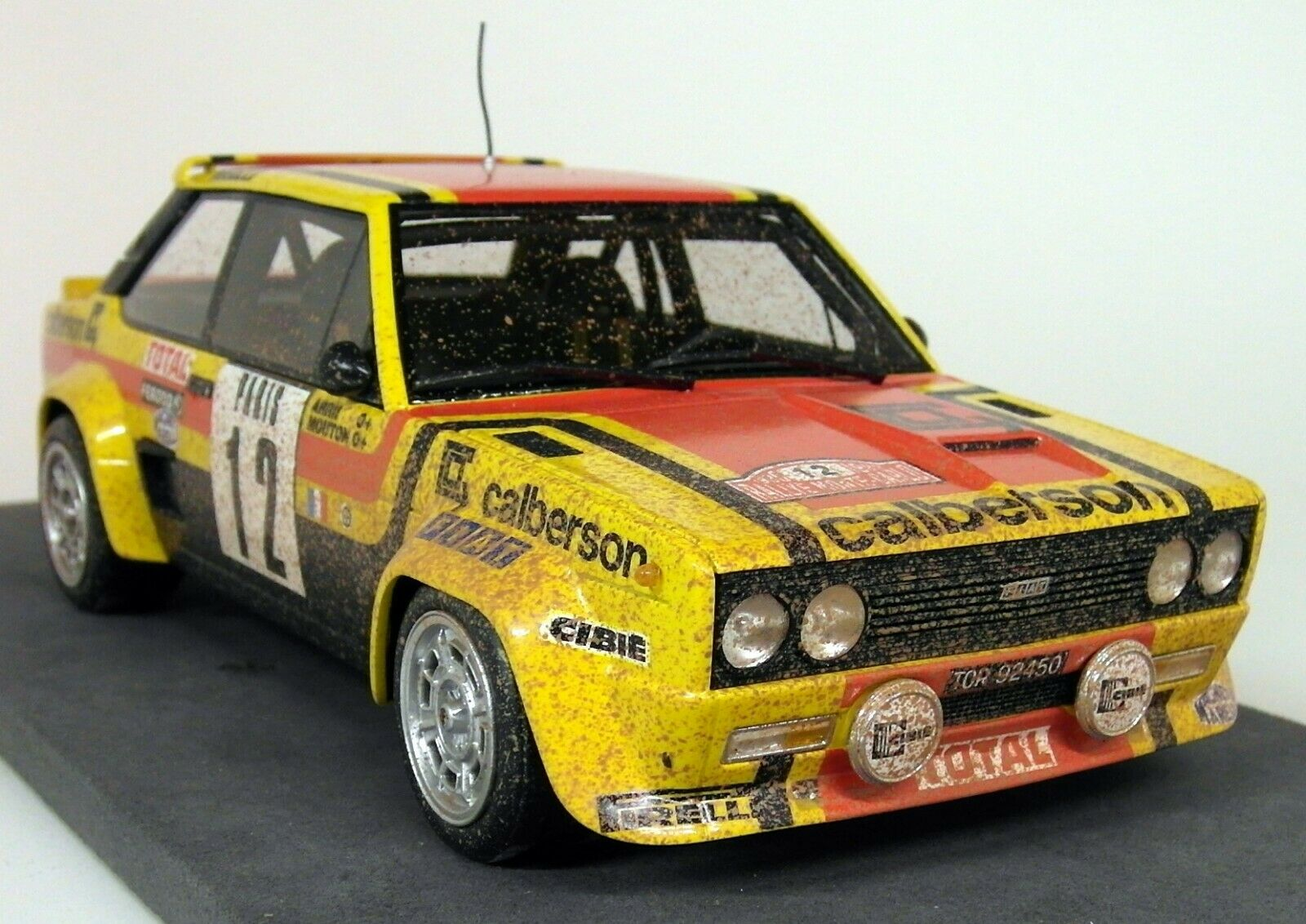 Top Marques 1 18 Scale - Fiat 131 Abarth 1980 Monte Carlo Rally Mouton Dirty Ver
