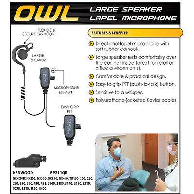 New QUICK RELEASE ADAPTER for Hawk Lapel Mic Kenwood NexEdge NX200 NX300 TK5210