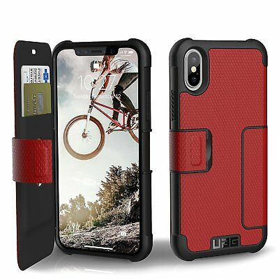 Case Urban Armor Gear Metropolis Folio UAG Apple iPhone X MAGMA RED - IPHX-E-MG