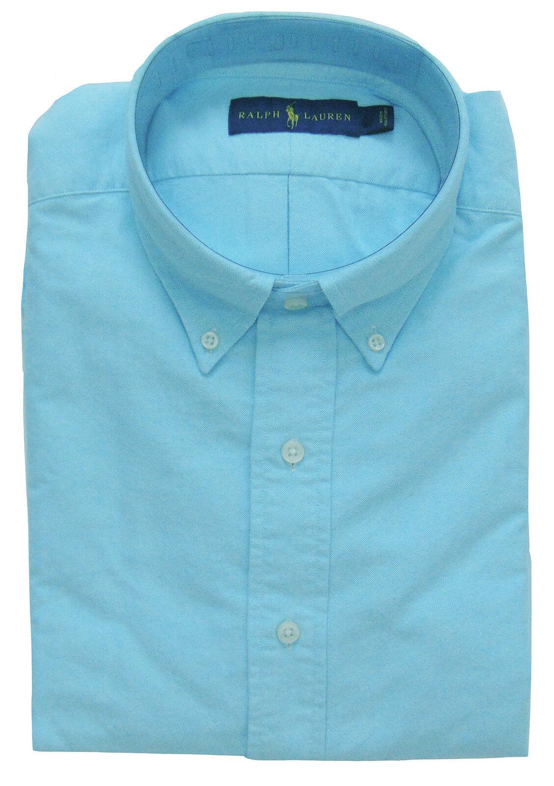 Men's RALPH LAUREN Aegean bluee Cotton Shirt 2XLT 2LT 2XT TALL NWT NEW