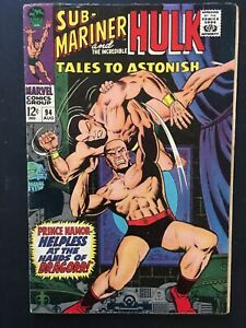 TALES-TO-ASTONISH-VOL-1-NO-94-SUB-MARINER-AND-HULK-1967-SILVER-AGE-ISS-CENTS