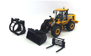 MOTORART 15823 JCB 456 WHEELED LOADER WITH 3 ATTACHMENTS 1 50 SCALE