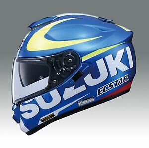 Original Suzuki Moto Gp Gsxr Shoei Gt Air Casque Complet Côté Moto