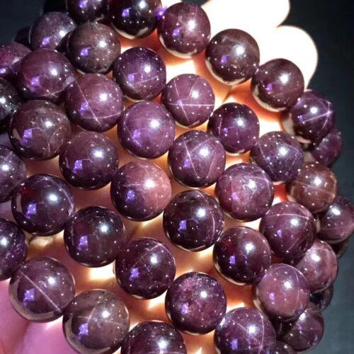 9-10 mm TOP naturel les étoiles Garnet Crystal Bead Bracelet AAAA