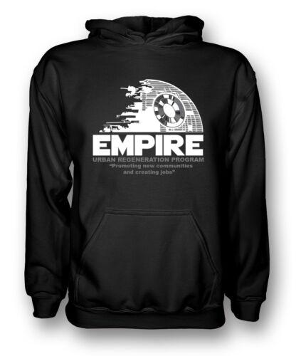 Empire RIGENERAZIONE URBANA MORTE NERA-STAR WARS-Uomo Felpa con Cappuccio