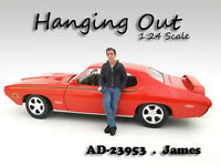 hanging Out James Figure For 1:24 Scale Models American Diorama 23953