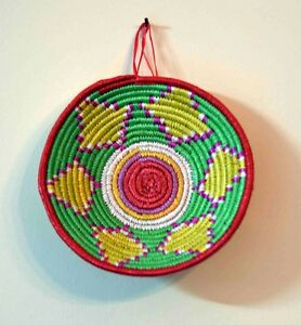 Basketry Cart Handmade Crafts Ethiopian Woman Hamper