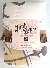 Pottery Barn Teen Junk Gypsy Follow Your Heart Sham Pillow Bohemian NWT