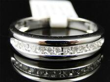Mens 14K White Gold Genuine Diamond Wedding Engagement Band Ring .25 Ct