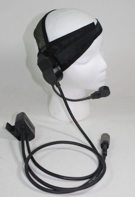 Harris Rf-3020-hs003 Headset for an PRC 152 & 152a Headphones PTT 6 Pin