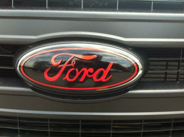 Front and rear oval emblem STICKER / DECAL OVERLAYS Fits 2009 - 2014 FORD F150