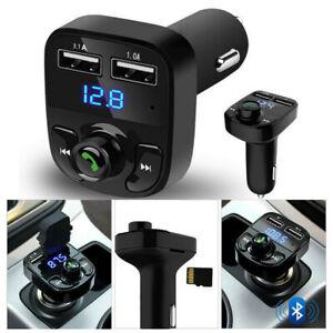 Wireless-Bluetooth-Handsfree-Car-Kit-FM-Transmitter-MP3-Players-Dual-USB-Charger